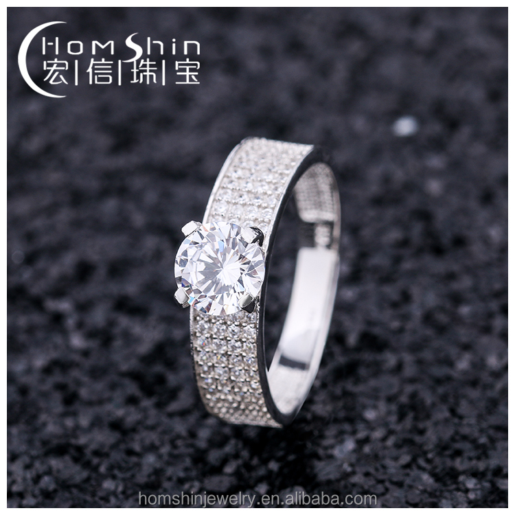 Factory direct sale unisex 925 sterling silver jewelry ring with diamond cz for men and women