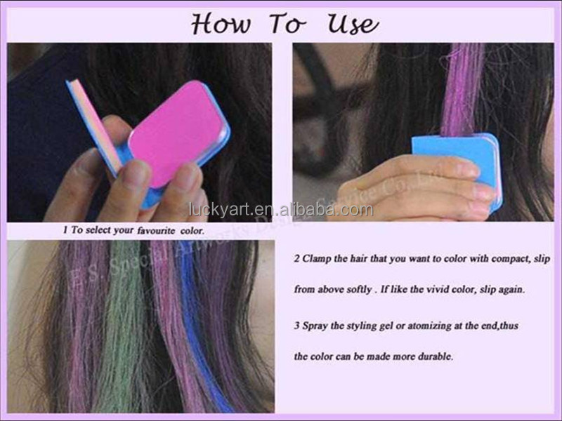 Round Shape Hair Chalk Comb Best Over The Counter Fashion Temporary