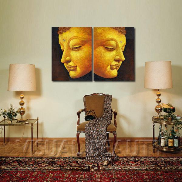 Balanced Buddha Portrait Painting For Home Decor