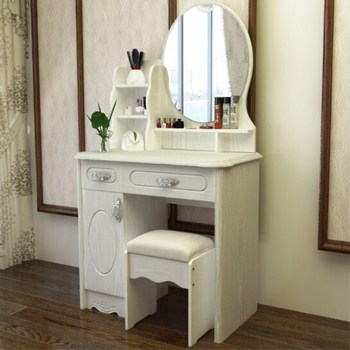 . Modern White Mirrored Dressing Table Chair Set With Storage Drawers And  Display Rack   Buy Dressing Table Mirror With Drawer Dressing Table