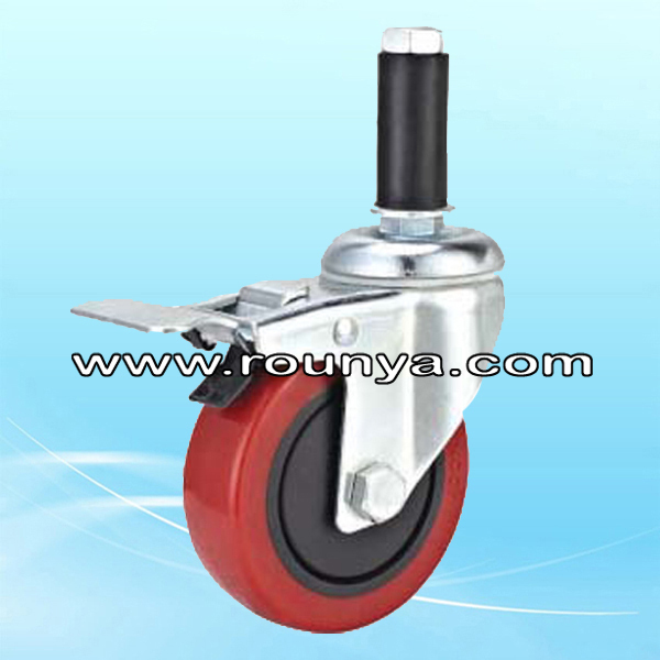 Work Table Caster Polyurethane Wheel with brake