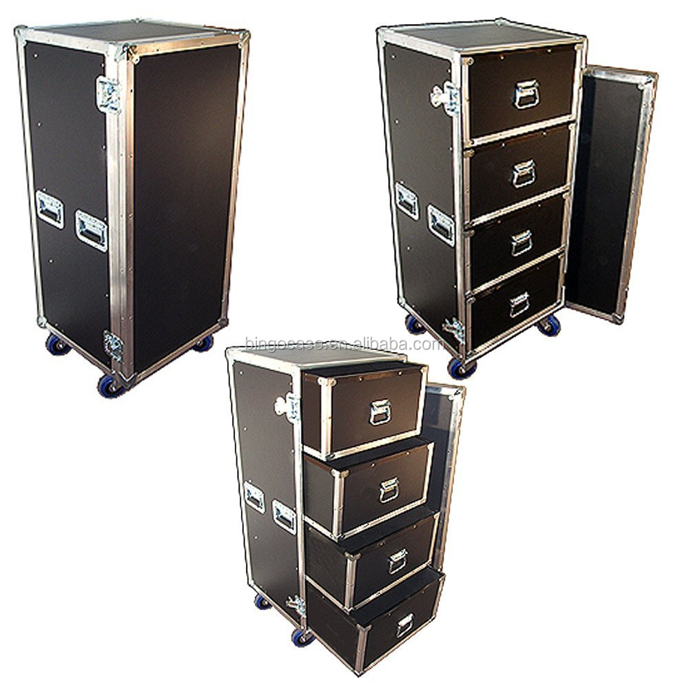 Drawer Workbox ATA Road Case with 4 Drawers & Wheels