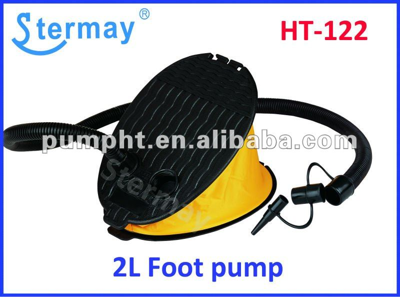 2 Liters Plastic foot pump/inflator for towables,boats,mattresss,toys and other inflables