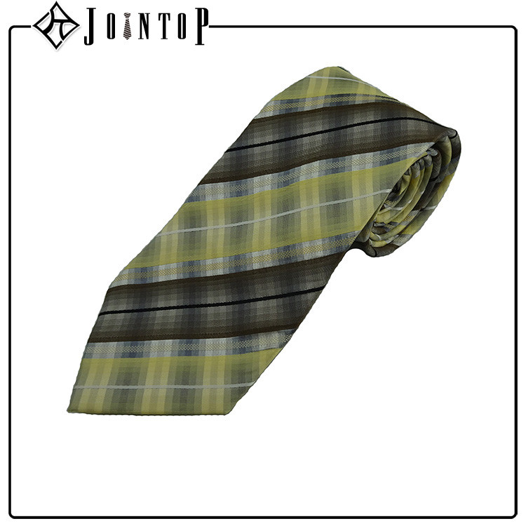 Wholesale high quality plaid turkey necktie