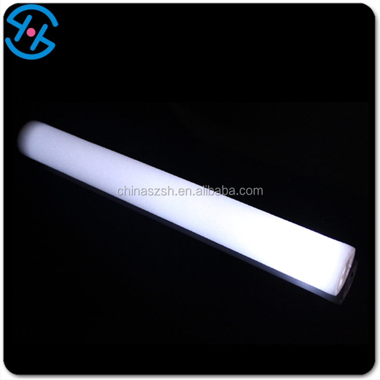 Hot selling EPE eco foam colored lights imprint simple white led foam cheer sticks