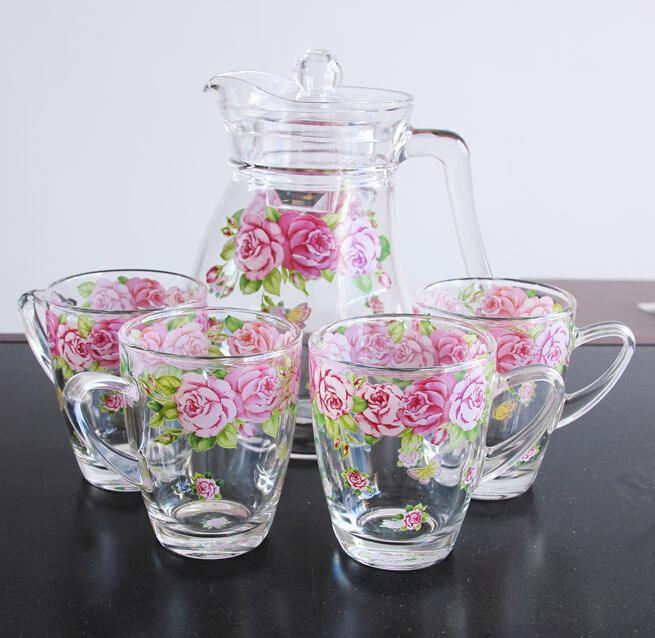 Haonai Glass K-2292,2014 New Design,Glass Water Set