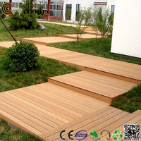 removable yellow big groove wpc plastic wood composite deck floor