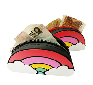 5 PCS silicone coin purse kids / ladies mini wallet purses for women 2018 handbag