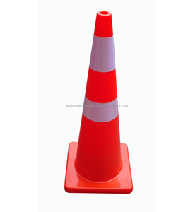 Reflective Flexible Yellow Color Soft PVC Traffic Safety Cone