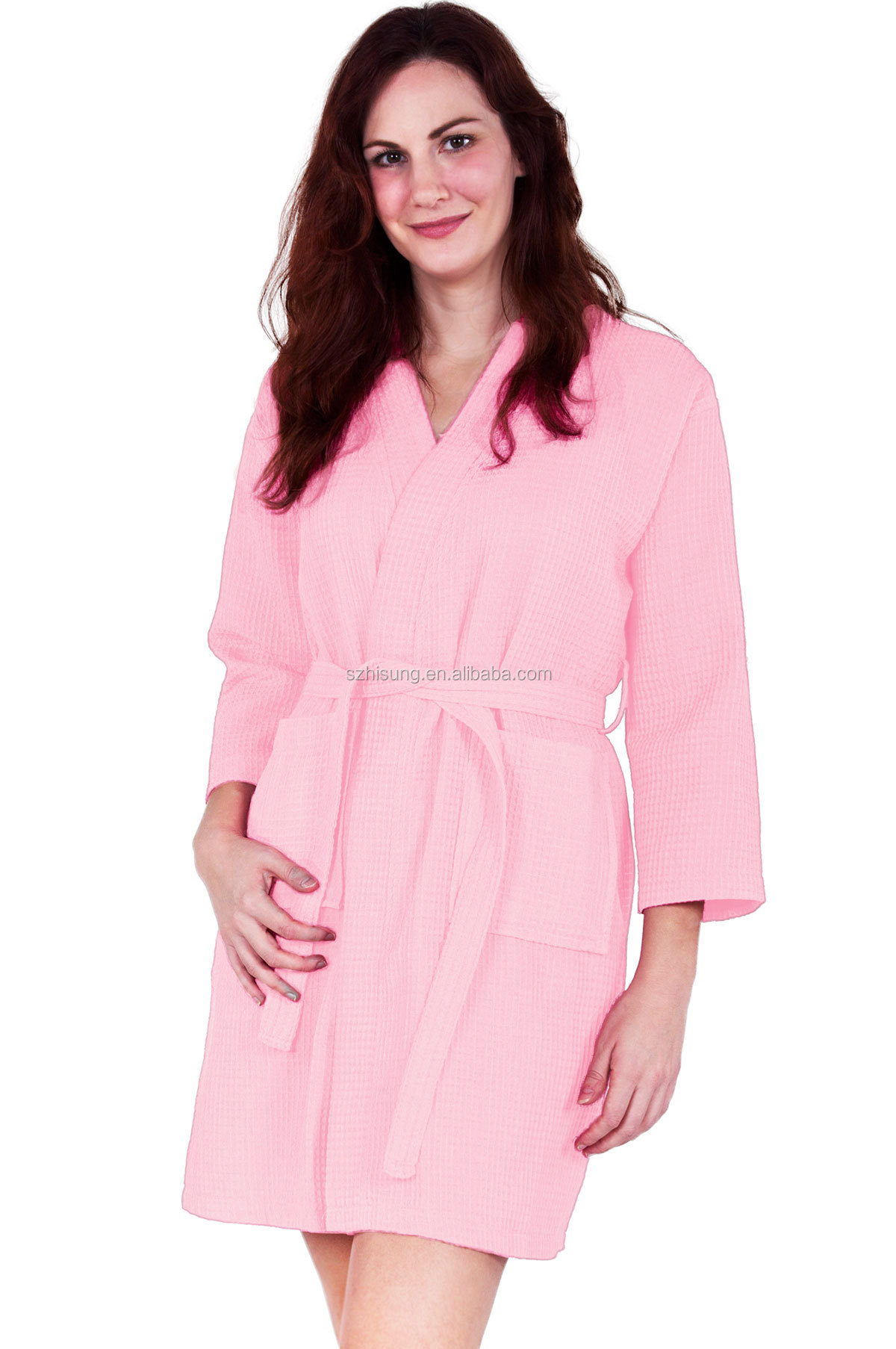 Poly Cotton Ladies Waffle Robe