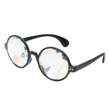 98fb703d77f Novelty Chic Clear Kaleidoscope Glasses Rainbow Prism For Music Festivals  LED Light Shows Eyeglasses Frames New