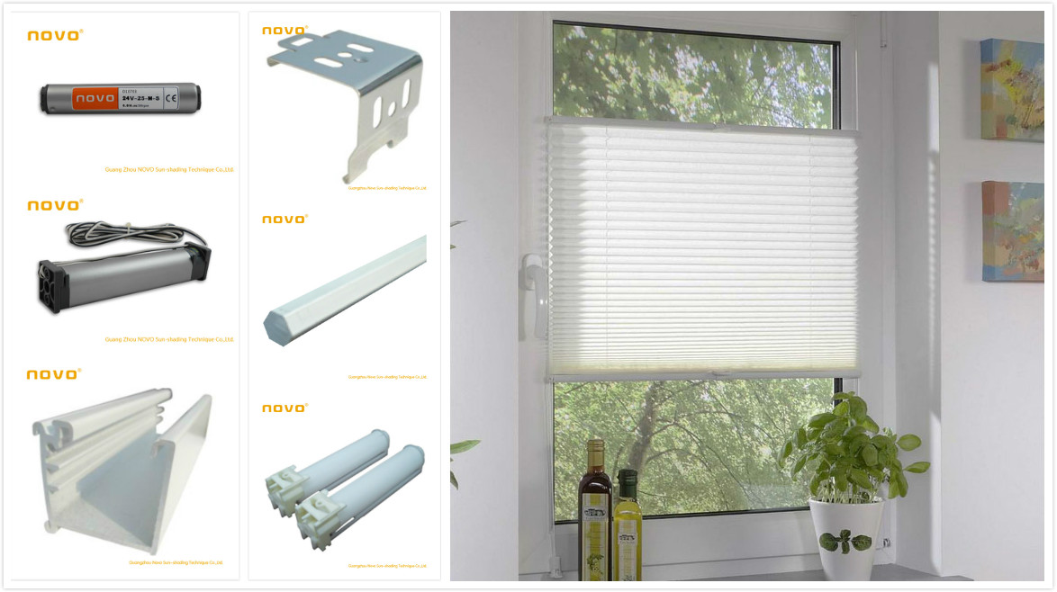 2014 new style automatic Pleated curtains /25MMFabric Pleated Blind/pleated blinds with remote control &venetian blind motors
