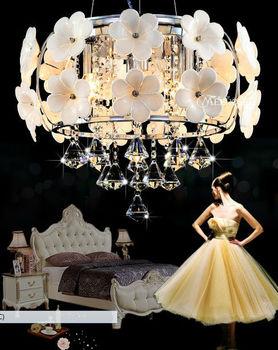 Pop Design White Flower Crystal Pendant Lighting Crystal Dining