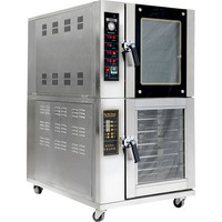 Costom commercial combination hot air convection guangzhou oven with proofing