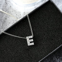 2019 New Arrivals Fashion Jewelry Crystal 26 Alphabet Initial Necklace