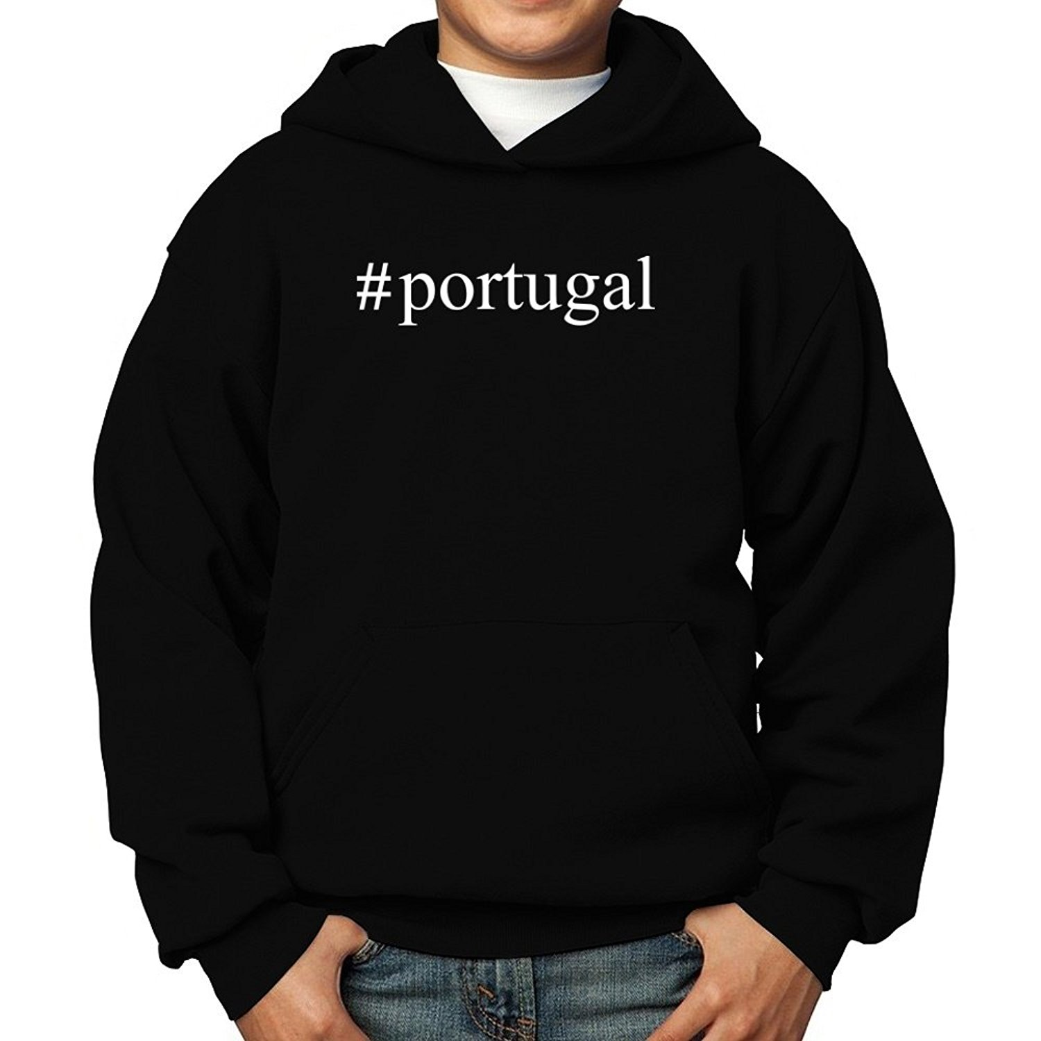 1b4b7244f Get Quotations · Teeburon Portugal Hashtag Boy Hoodie