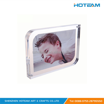 Pop Up 2 Pieces Acrylic Magnetic Photo Frames Clear Acrylic Pmma ...