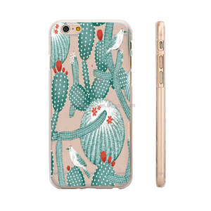 Summer Palm Tree Cupcakes Style Premium Thin TPU Case Skin for iphone 5S 6S 6 Plus 7 7 plus