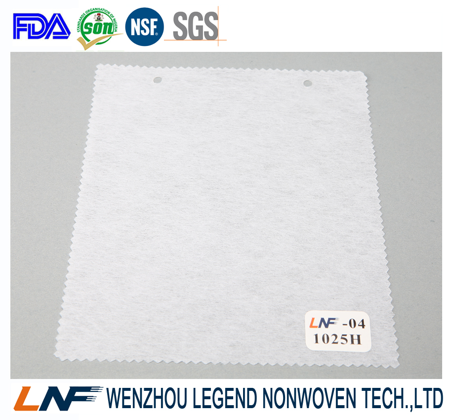Wenzhou factory 1020H 100%polyester non-woven interlining fabric for Vietnam markt