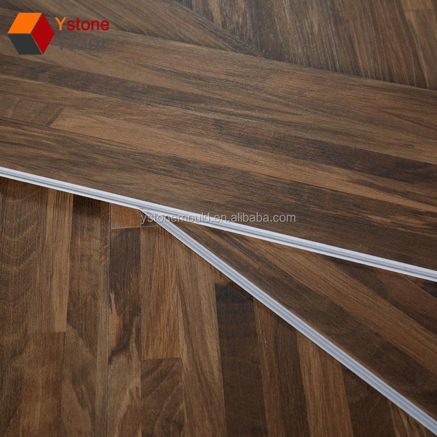 4mm 8mm Uv Coating Treatment Wood Look Rubber Click Lock Vinyl