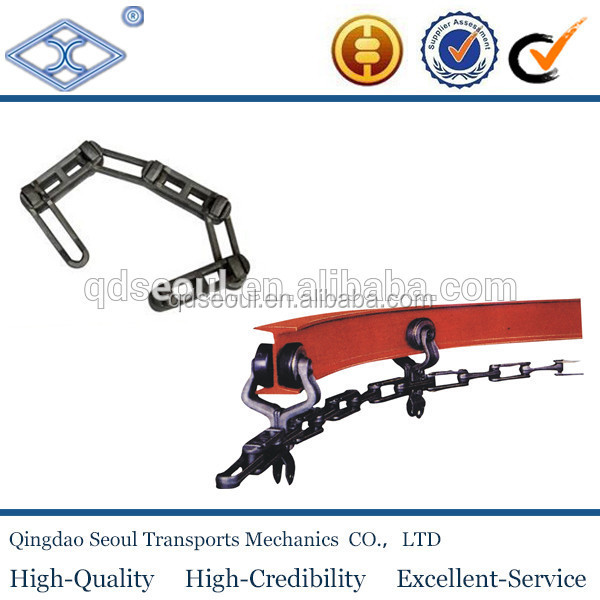 ISO standard conveyor rivetless drop trolley forged X458 conveyor chains