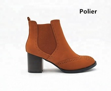 Polier factory direct boots fashion high heel ladies short boots women ankle boots shoes for winter and autumn
