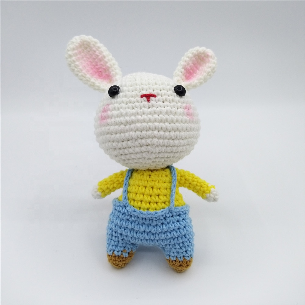 Wholesale handmade crochet stuffed animal bunny <strong>toy</strong>