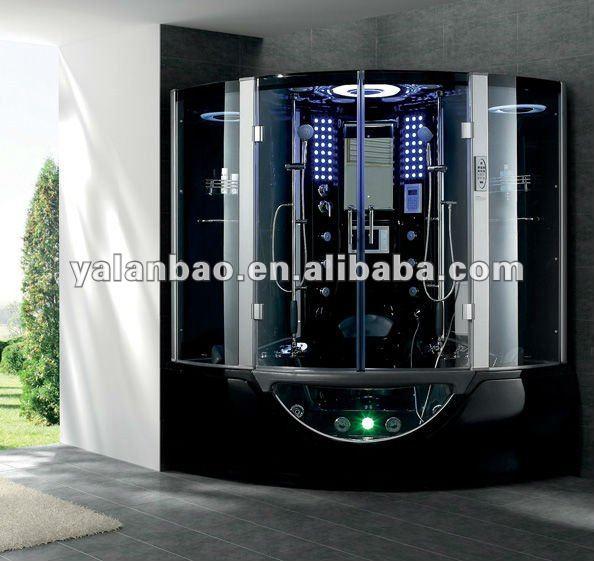 schwarzem acryl dampfsauna dusche badezimmer mit wellness badewanne g160 dusche zimmer produkt. Black Bedroom Furniture Sets. Home Design Ideas