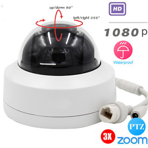 "1080P 2.5"" Mini PTZ Dome IP Camera 3X OpticaL Zoom Motorized IR ONVIF CCTV Security Network PTZ IP Camera Support POE"