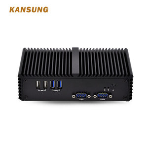 OEM mini pc with core i5 processor,dual Lan, 6*USB multiple serial-port rs485 VGA 11.5W canless X86 POS embedded computer