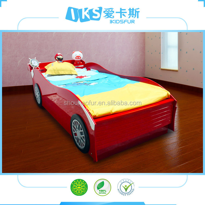 hot sale double bed kids red racing car bed k3
