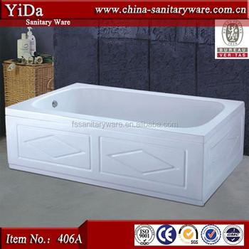 white free standing bathtubs,two sides skirt used bathtub,corner