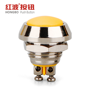 12mm screw terminal momentary waterproof push button switch