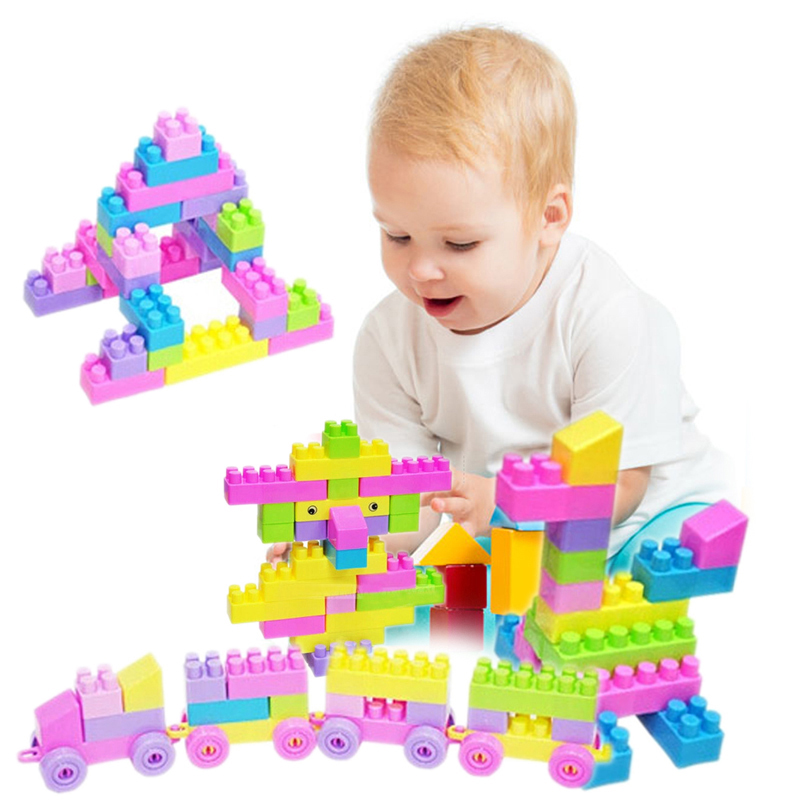 New Creative 46Pcs Plastic Children Kid Puzzle Educational Building Bricks Toy FCI