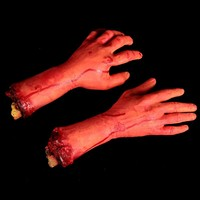 Halloween Horror Props Bloody Broken Hand Finger Leg Foot Brain Heart Party Decoration Scary