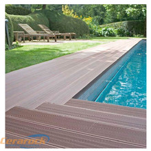 easy clean wood plastic composite swimming pool decking