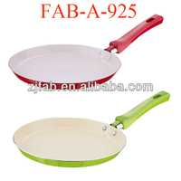 2pcs Cheap Nice Look And Mini White Seen On TV Ceramic Fry Pan For Promotion
