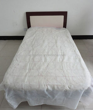 White Disposable Elastic Fitted Bed Sheets Cover Massage Table Facial Chair  Spa