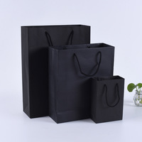 High quality corrugated jewelry boxes black jewelry handbag custom design logo jewelry paper bag low MOQ