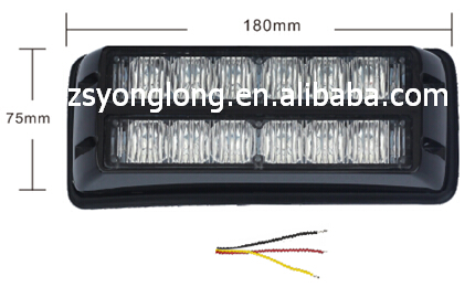 grill led strobe light with e-mark, led strobe light waterproof,led kids flash light, YL-162-6-2-1
