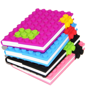 New design silicone blocks notebook for promotional
