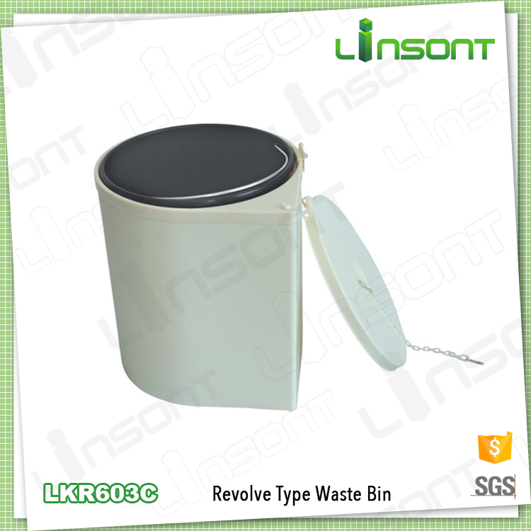 Fancy plastic trash can kitchen cabinet waste bin