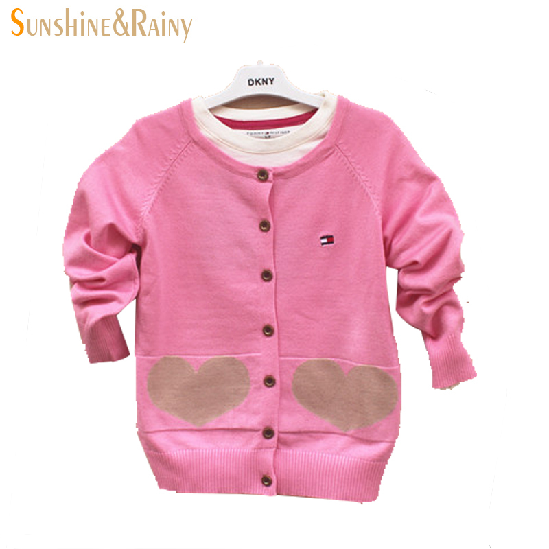 a037c2b8a Get Quotations · New 2015 autumn winter girls knitted sweaters 100% cotton  kids Cardigan sweaters Brand sweatercoat for