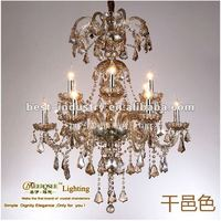 2012 SEP top-class gold chandelier for home with K9 glass,Meerosee Lighting