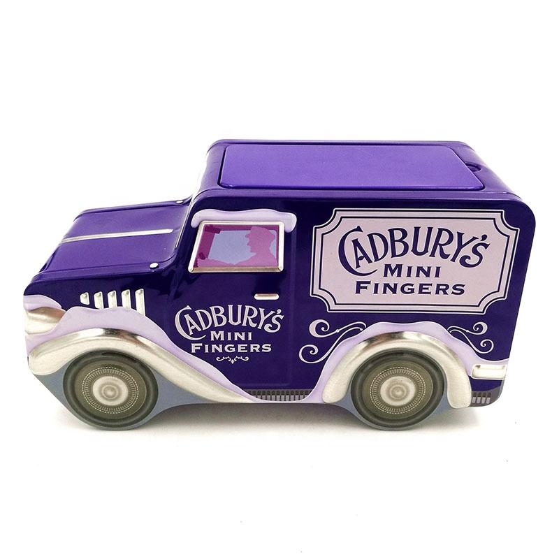 Горячая продажа OEM 220 г шоколадные конфеты упаковка подарок автомобиля форма олова коробка