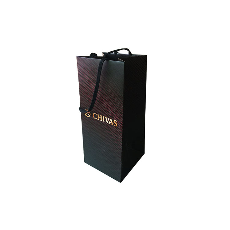 Fancy Paper Personalized Wine Gift Bags With Handles