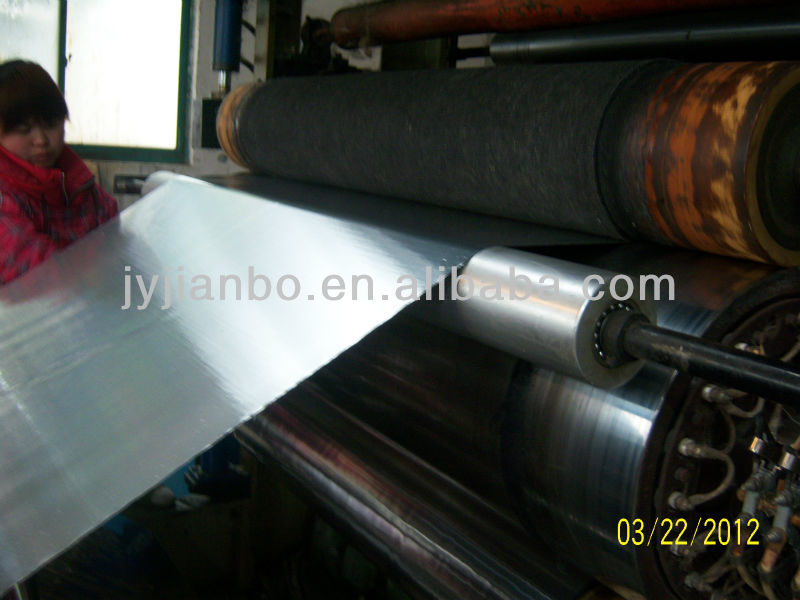 Carbon fiber coated aluminum foil as wall insulation