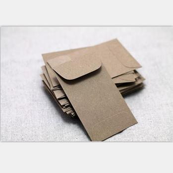 Mini Kraft Envelopes Recycled Seed Brown Paper Bag Coin Envelope