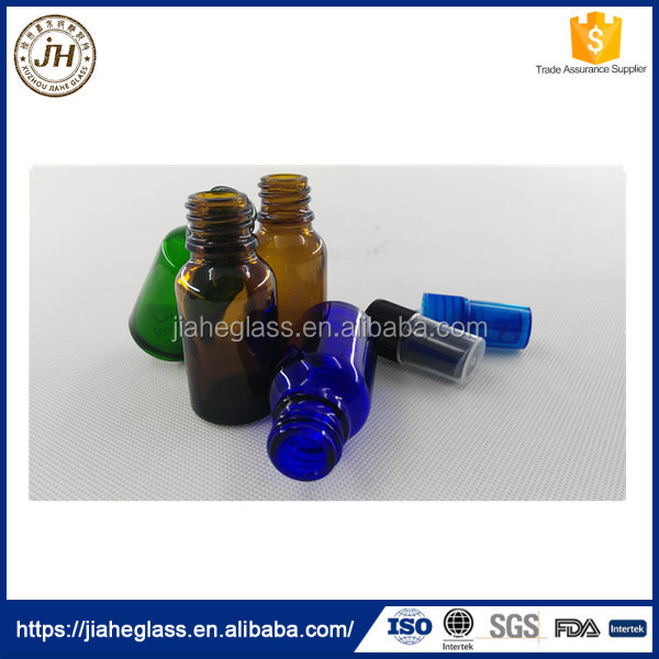 Cobalt Blue Amber Green 10ml Glass Spray Bottle for Essential Oils Sample Vials