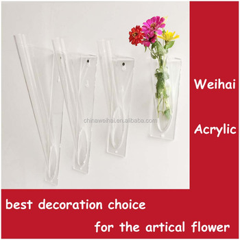 Wall Mounted Acrylic Holder for Artificial Flower acrylic flower box